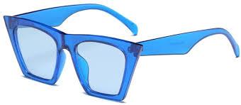 Fullfun Women <b>Fashion Cat</b> Eye Marine Sunglasses (B) at Amazon ...