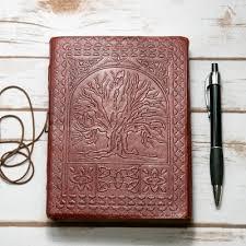 """<b>High</b>-<b>Quality</b> Handmade <b>Genuine</b> Leather """"Tree of Life"""" <b>Embossed</b> ..."""