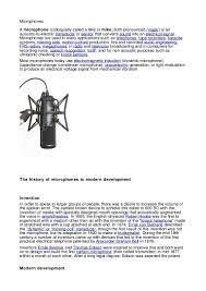 microphone essay