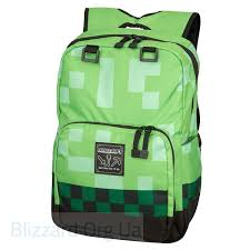 <b>Рюкзак Майнкрафт</b> - <b>Minecraft Creeper</b> Kids <b>Backpack</b> (<b>Green</b>, 18 ...