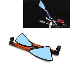 2 pcs motorcycle side bar end mirror blue lens rear view motor handlebar retrovisor moto for cafe racer suzuki cb500x