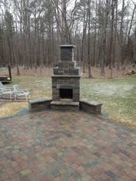 outdoor fireplace paver patio: heres one of our fireplace kits we sell at the store visions landscape supply amp store visionspatio firepaver