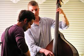photo gallery soren nissen ian wright and nate renner in the the soren nissen ian wright and nate renner trio renner leans into another guitar