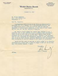 john f kennedy signed letter on immigration laws senate letterhead john f kennedy