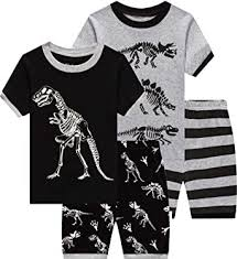 shelry Children Pajamas Cotton Dinosaur Kids ... - Amazon.com