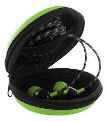 Купить <b>Чехол Krutoff для</b> внутриканальных наушников (зеленый ...