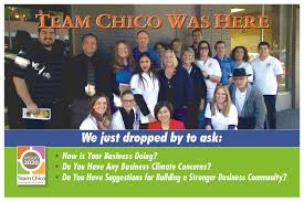 team chico chico chamber of commerce our 2015 2016 year has keep the momentun from year one producing outstanding results outreach to over 1 200 businesses 10 employement areas