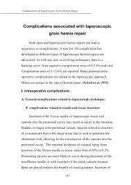 complications associated laparoscopic rgoin hernia repair