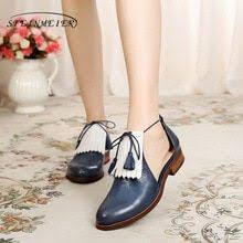 genuine leather brogues yinzo woman sandals flats shoes vintage handmade sneaker oxford for women 2018 summer