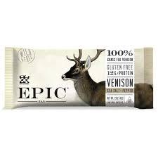 Epic Meat Bar - <b>Venison Sea Salt</b> Pepper Bar - BariatricPal Store