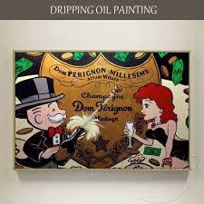 Pop Wall Art <b>Hand painted</b> High Quality Rich Man Portraits Oil ...