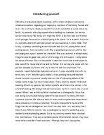 word essay about myself introduction Body Firm