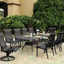 11 Piece Dining Room Set Darlee Victoria 11 Piece Resin Wicker Patio Dining Set With