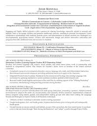 paraeducator cover letter paraprofessional resume sample  corezume cosample resume for special