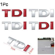 <b>Chrome TDI</b> Emblem Badge 3D <b>Auto</b> Decal Trunk Lid <b>Car</b> Sticker ...