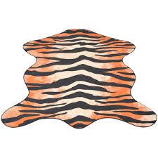 Furniking <b>Shaped Rug 150x220</b> cm Tiger Print