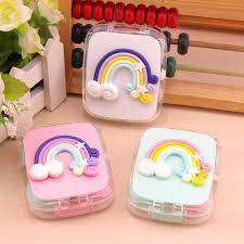 <b>LIUSVENTINA DIY cute Rainbow</b> contact lens case for eyes contact ...