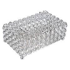 Crystal <b>Tissue</b> Box Cover Rectangular Paper Rhinesone <b>Storage</b> ...