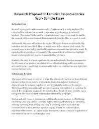 proposal essay sample research proposal on feminist response to sex work sample essay research proposal on feminist response to