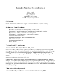 resume for administrative assistant resume  seangarrette cogreat exle resumes administrative assistant resume objective executive   resume for administrative assistant