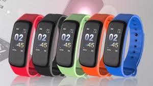 Lerbyee Color Screen <b>C1 Smart Bracelet</b> Blood Pressure ...