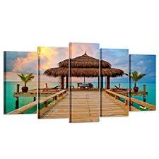 Kreative Arts - Large 5 Pieces Canvas Prints Tropical ... - Amazon.com