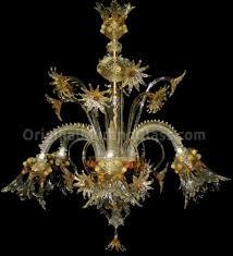 Lampadario Murano Rosa : Lampadario canarin fiori floreale vetro di murano luci