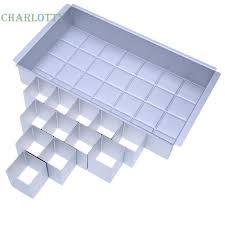 <b>Rectangular Aluminum Alloy</b> DIY Molds <b>Cake Baking</b> Mold Fondant ...