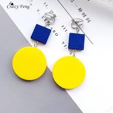 <b>Crazy Feng</b> 2018 Korean Women Wooden Earrings Jewelry ...