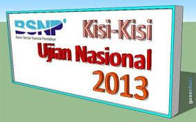 Kisi-Kisi Ujian Nasional 2012/2013