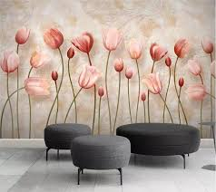 <b>beibehang Custom Photo Wallpaper</b> 3D Mural Tulip Marble Relief ...