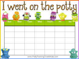 Potty Training Printable Charts and Checklists | The o'jays ...