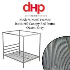 Home Furniture <b>Grey</b> Queen DHP Modern <b>Metal</b> Framed Industrial ...