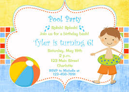 birthday pool party invitations net pool party invitations clipart clipart kid birthday invitations