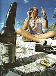 hunter s thompson on the beach oldschoolcool hunter s thompson on the beach 1974