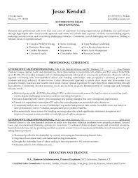 car salesman resume sample 2 auto sales resume