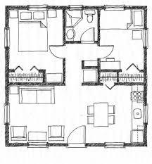 Small Scale Homes  square foot two bedroom house plansFloor Plan
