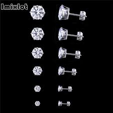 2Pcs Fashion <b>316L Surgical</b> Stainless Steel Round Clear Cut ...