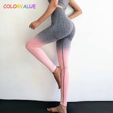 <b>Colorvalue</b> Ombre Seamless Gym Compression <b>Tights</b> Women ...