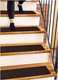 "<b>Carpet Stair Treads</b> Non-Slip 8""x30"" Brown - (<b>15</b>-Pack) Runners for ..."