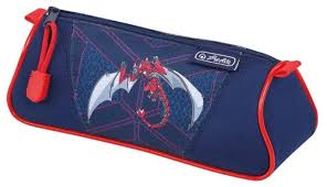 <b>Herlitz Пенал</b>-<b>косметичка Triangular</b> Red Robo Dragon (50014484 ...