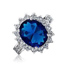 5CT Royal <b>Blue</b> Oval <b>Cubic</b> Zirconia Simulated Sapphire CZ <b>Crown</b> ...