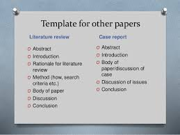 Template for other papers Literature review     SlideShare