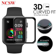 3D Curved <b>Full Screen Tempered Glass</b> For Apple Watch 38mm ...