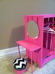 closet made from a crate joannes or michaels craft store with vanity could building doll furniture
