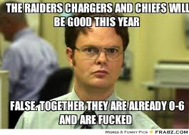 the raiders chargers and chiefs will be good this year ... via Relatably.com