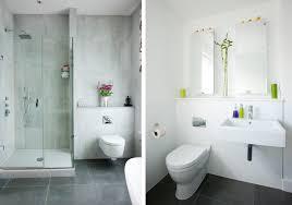 white bathroom floor:  modern white and grey minimalist bathroom