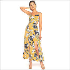 <b>Wasteheart Summer</b> Yellow Women Dress Ankle-Length Long ...