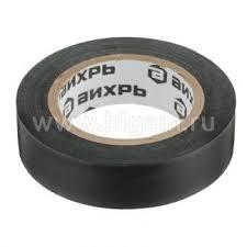 <b>Изолента</b> (<b>20m</b> * 19mm * 0,15mm) чёрный <b>Вихрь</b> — купить по ...