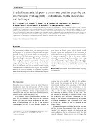 (PDF) Stapled haemorrhoidopexy: a consensus position paper by ...